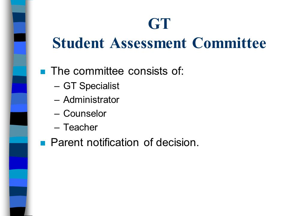 GT Student Assessment Committee