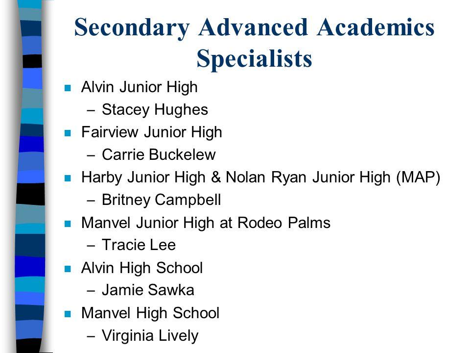 Secondary Advanced Academics Specialists