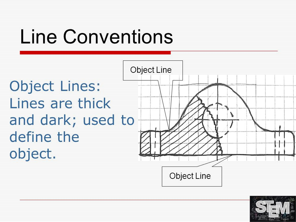 Line Conventions Object Lines: Lines are thick
