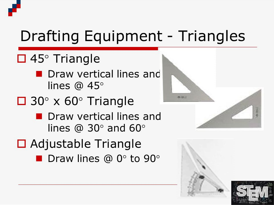 Drafting Equipment - Triangles