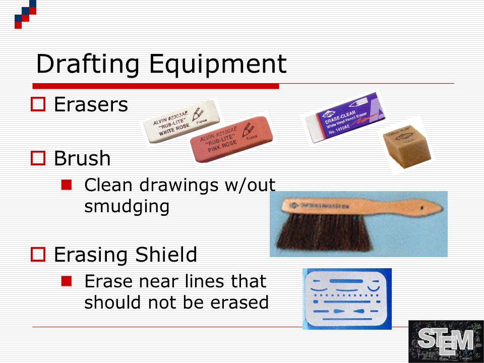 Drafting Equipment Erasers Brush Erasing Shield