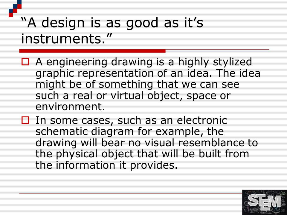 A design is as good as it's instruments.