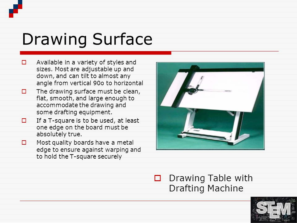 Drawing Surface Drawing Table with Drafting Machine