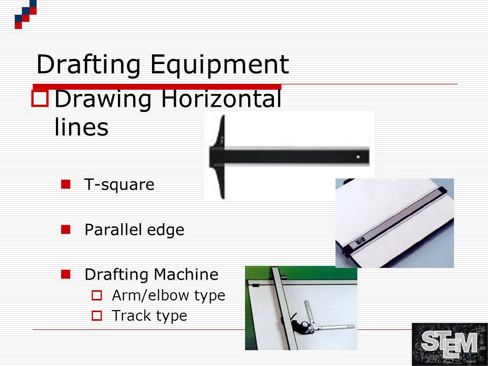 Drafting Equipment Drawing Horizontal lines T-square Parallel edge