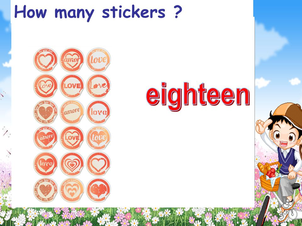 How many stickers eighteen