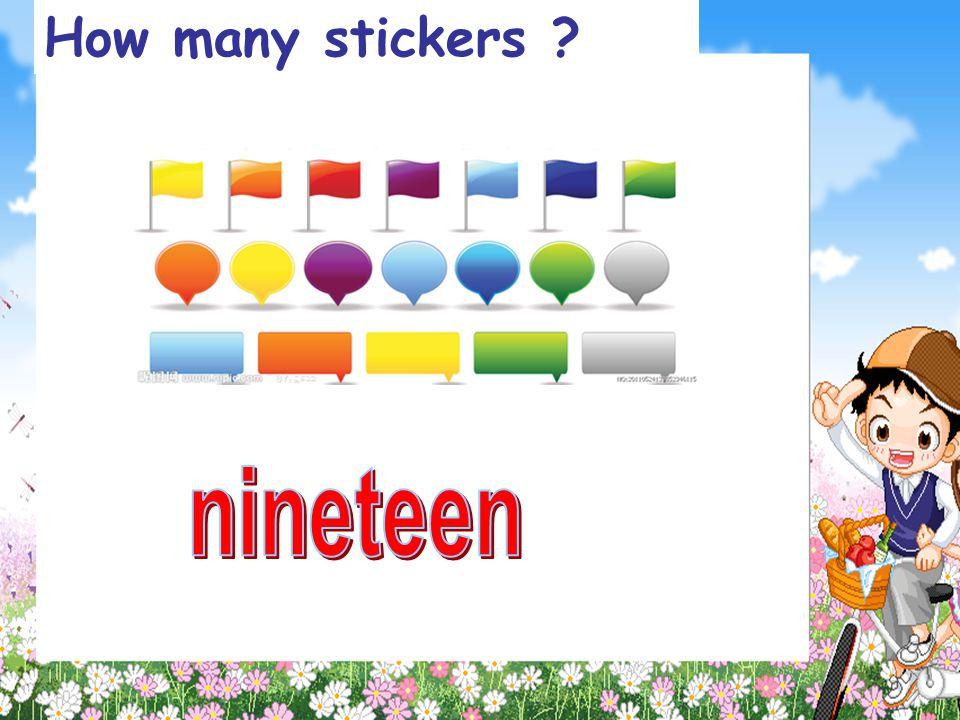 How many stickers nineteen