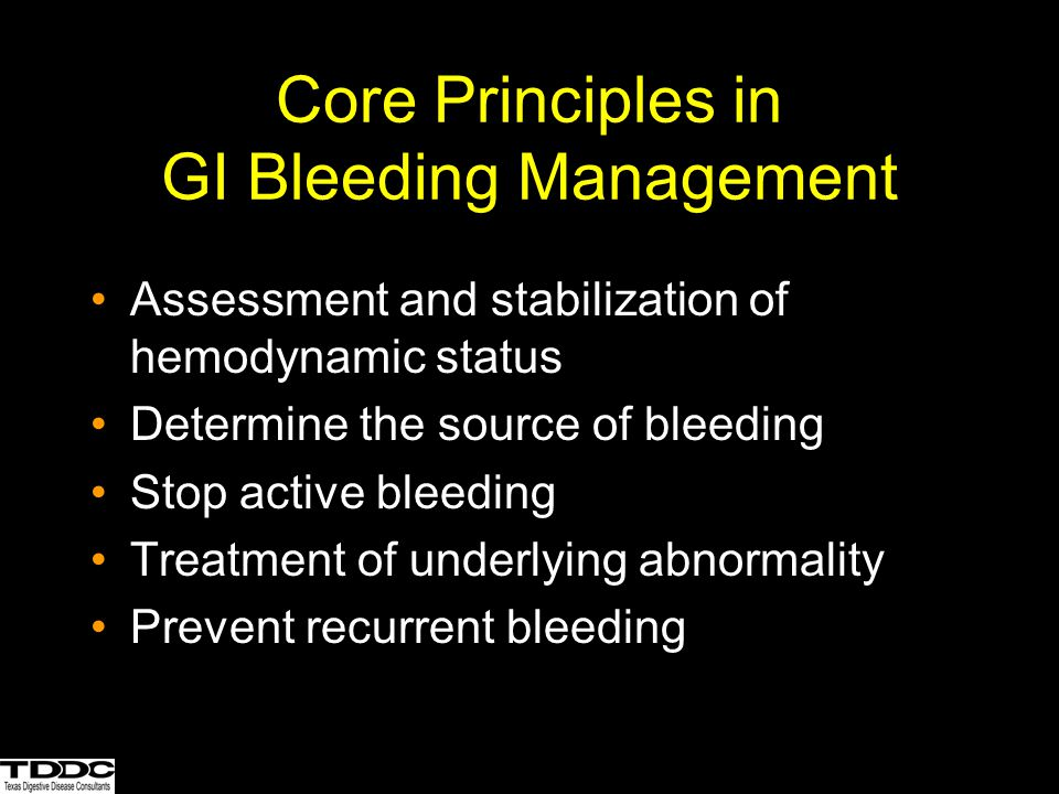 Core Principles in GI Bleeding Management