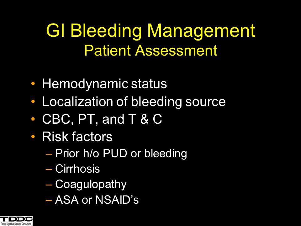 GI Bleeding Management Patient Assessment