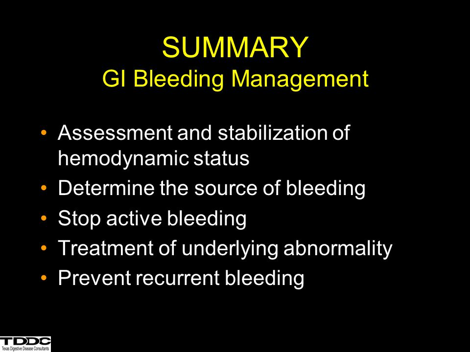 SUMMARY GI Bleeding Management