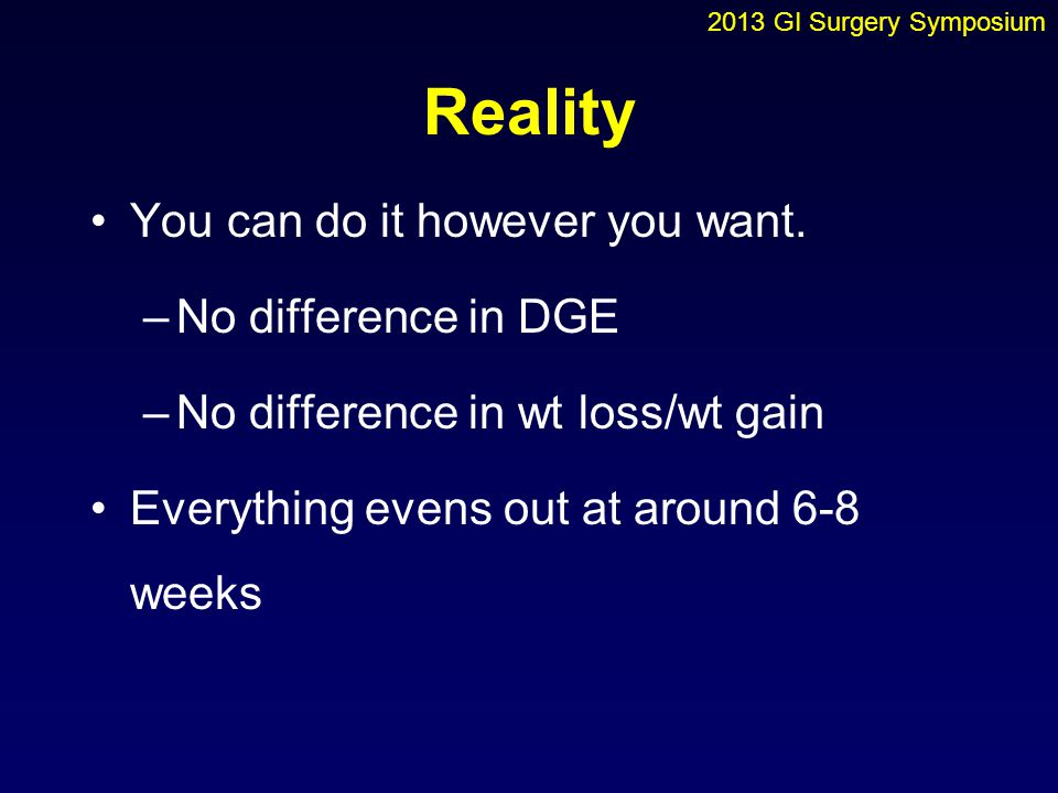 Reality You can do it however you want. No difference in DGE