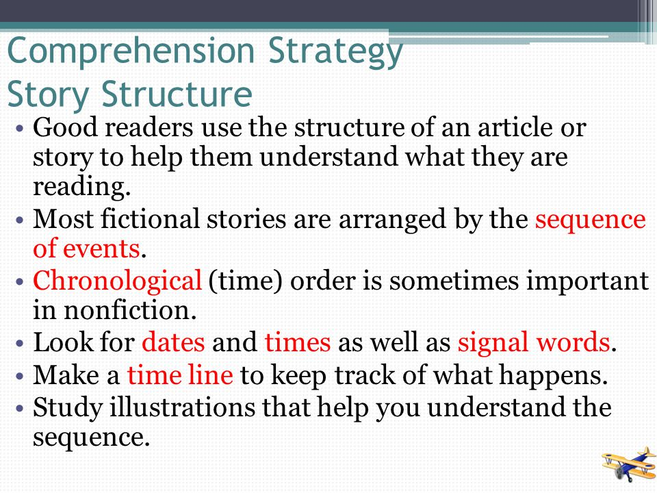 Comprehension Strategy Story Structure