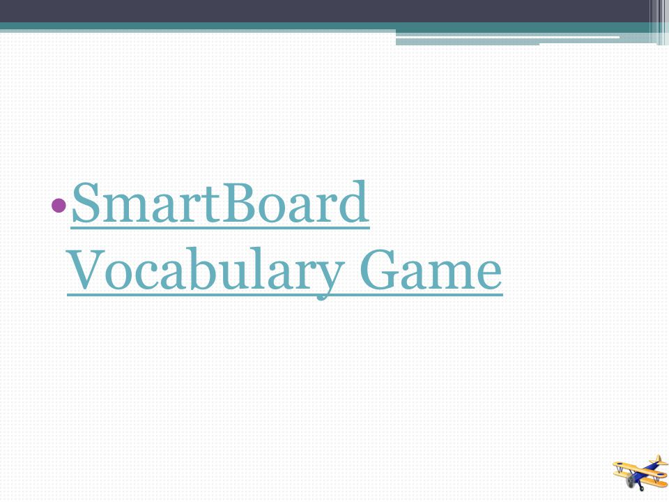 SmartBoard Vocabulary Game