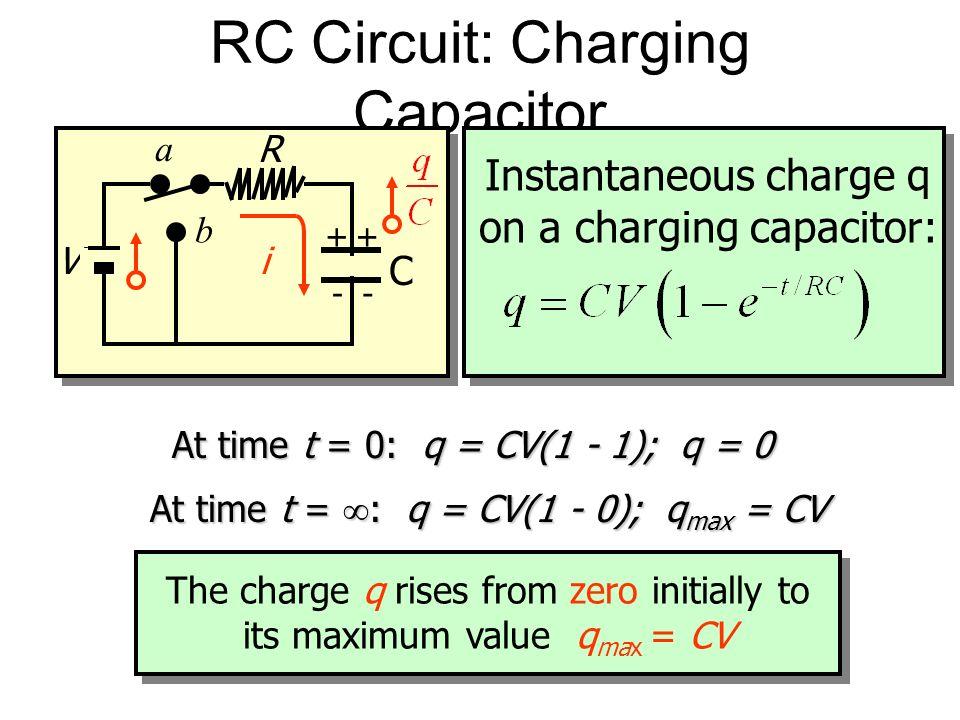 RC Circuit: Charging Capacitor