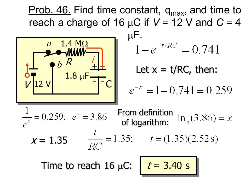 From definition of logarithm: