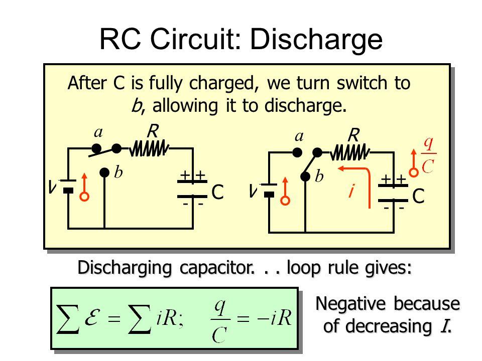 RC Circuit: Discharge C C