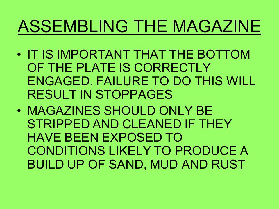 ASSEMBLING THE MAGAZINE