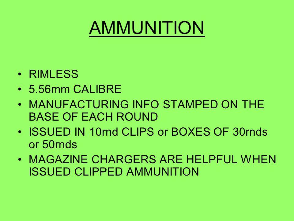 AMMUNITION RIMLESS 5.56mm CALIBRE