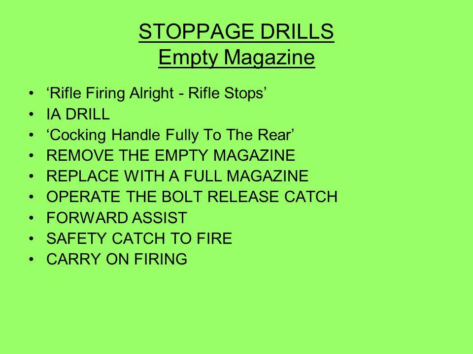 STOPPAGE DRILLS Empty Magazine