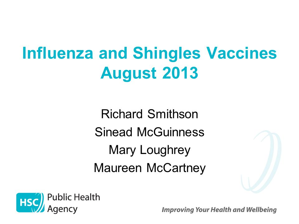 Influenza and Shingles Vaccines August 2013