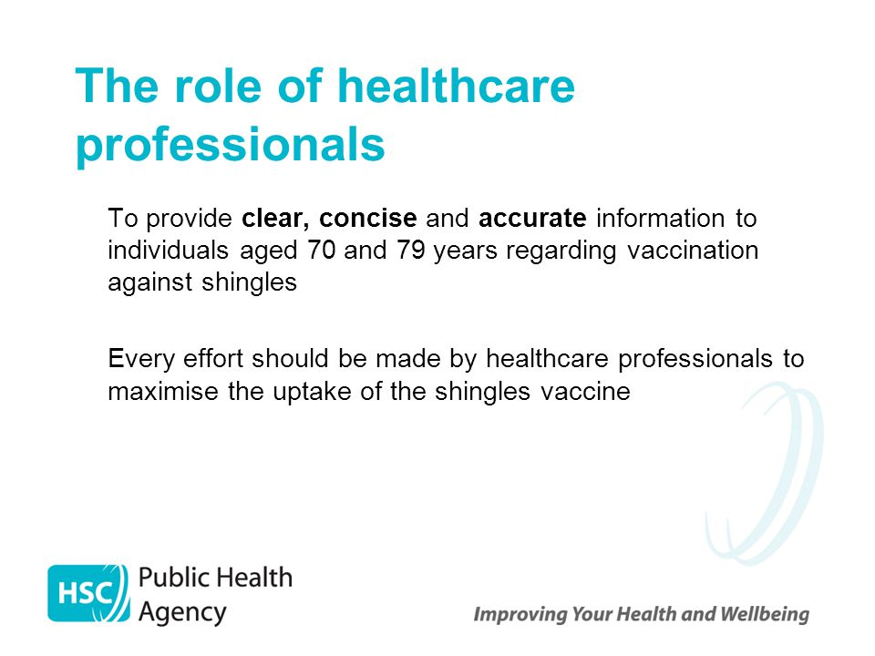 The role of healthcare professionals