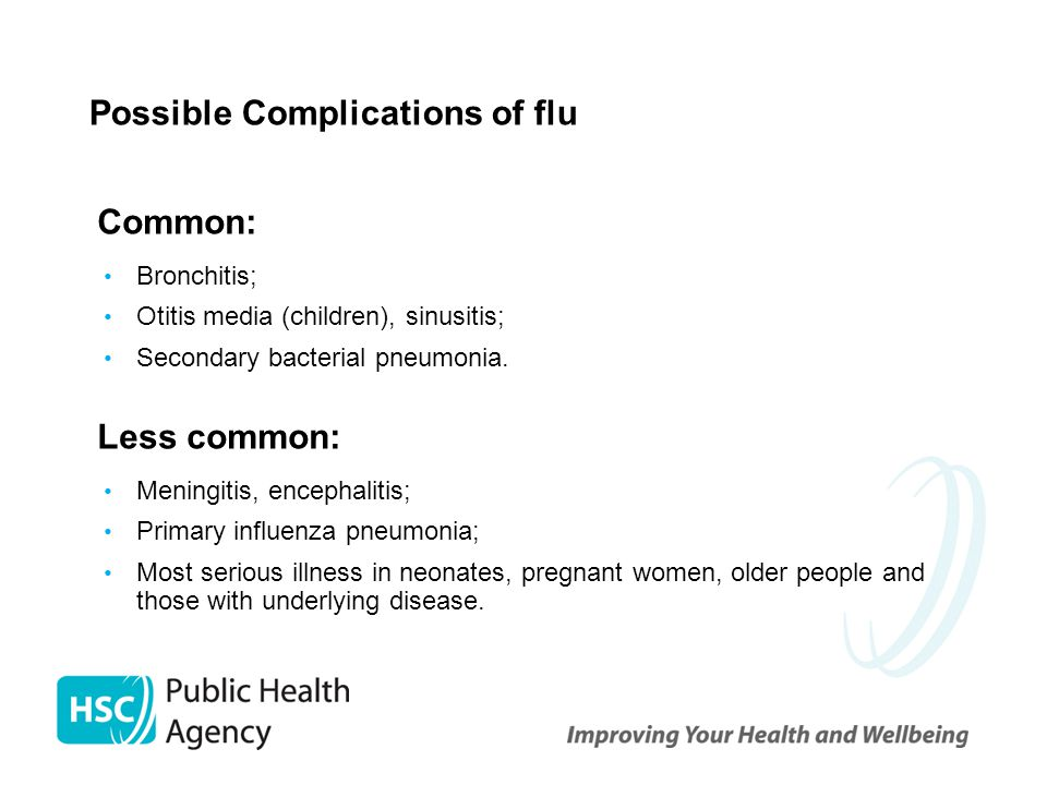 Possible Complications of flu