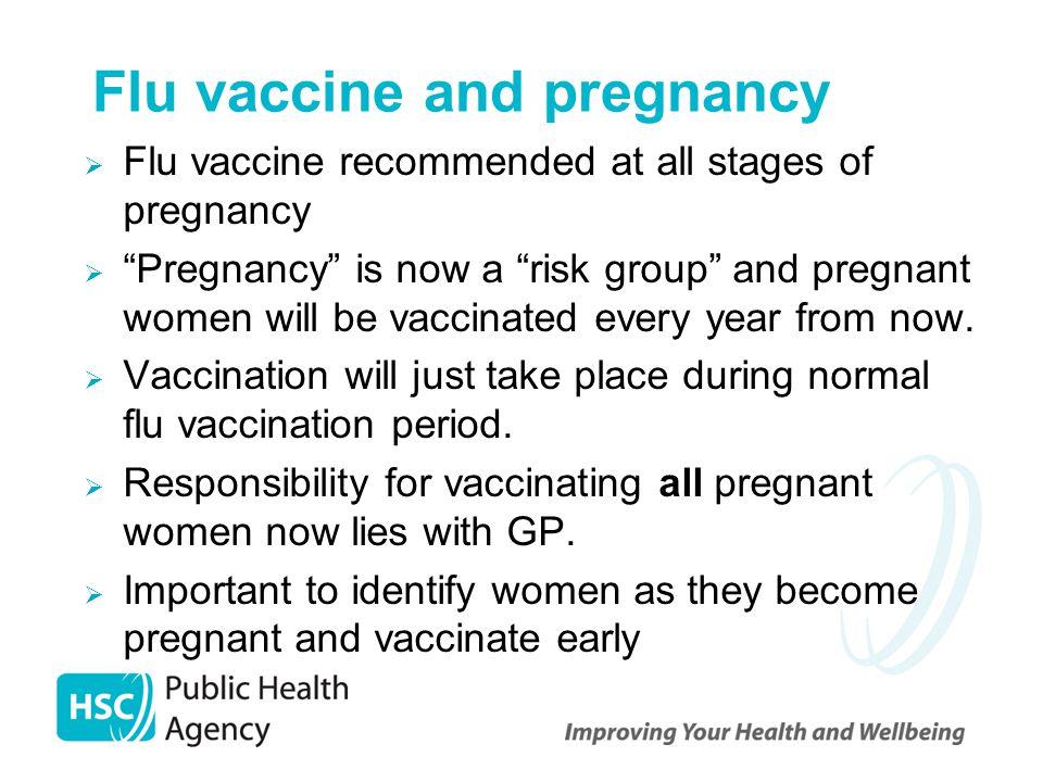 Flu vaccine and pregnancy