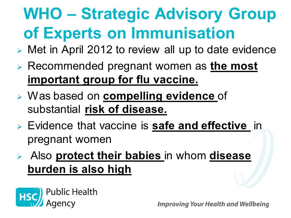 WHO – Strategic Advisory Group of Experts on Immunisation