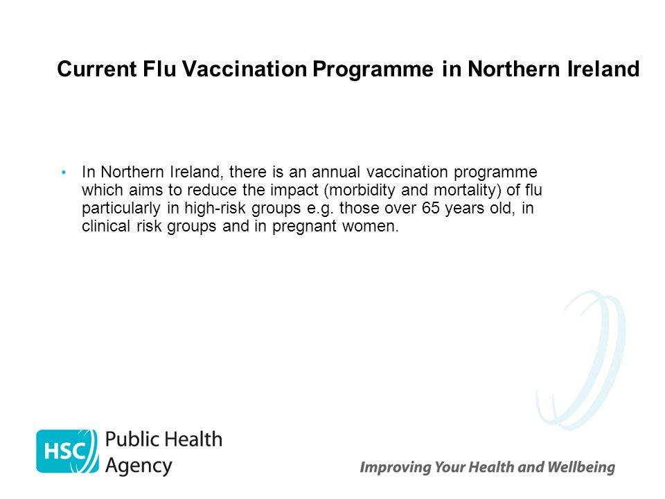 Current Flu Vaccination Programme in Northern Ireland