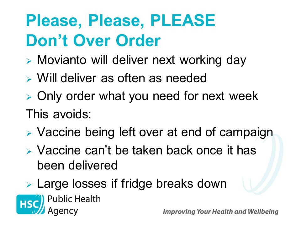 Please, Please, PLEASE Don't Over Order