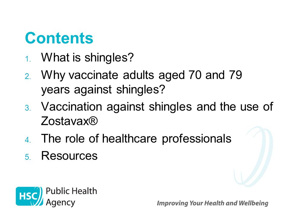 Contents What is shingles