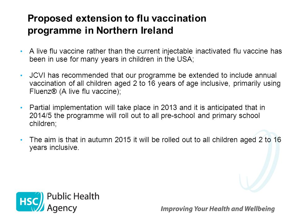 Proposed extension to flu vaccination programme in Northern Ireland