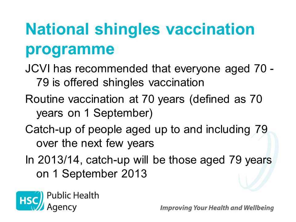 National shingles vaccination programme