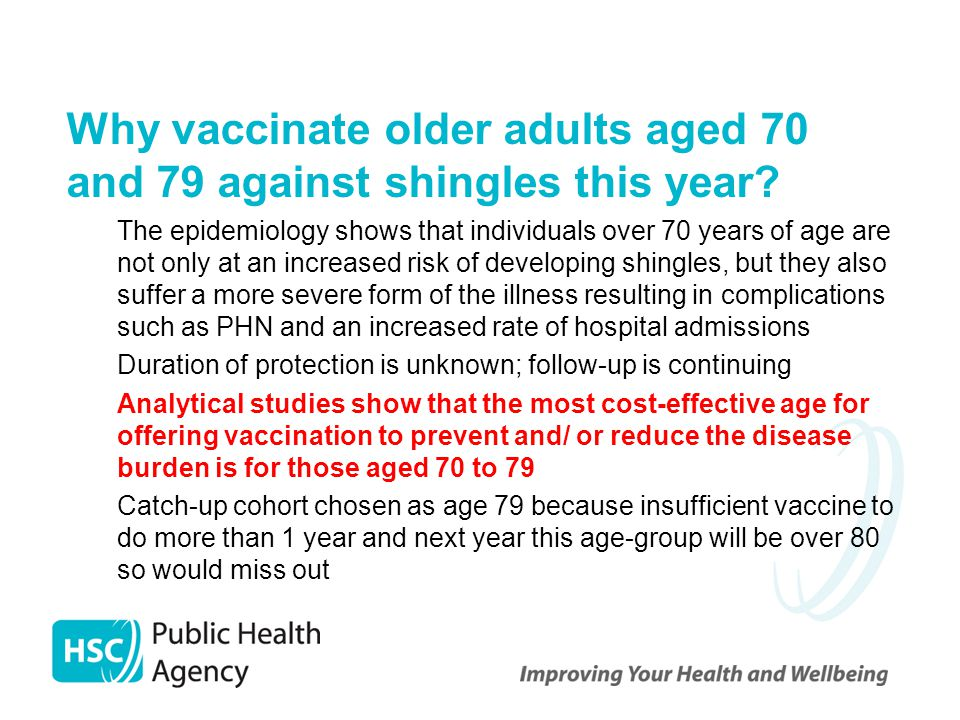 Why vaccinate older adults aged 70 and 79 against shingles this year