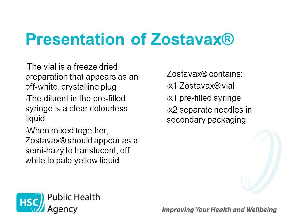 Presentation of Zostavax®