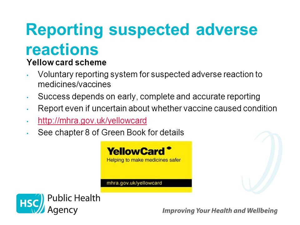 Reporting suspected adverse reactions