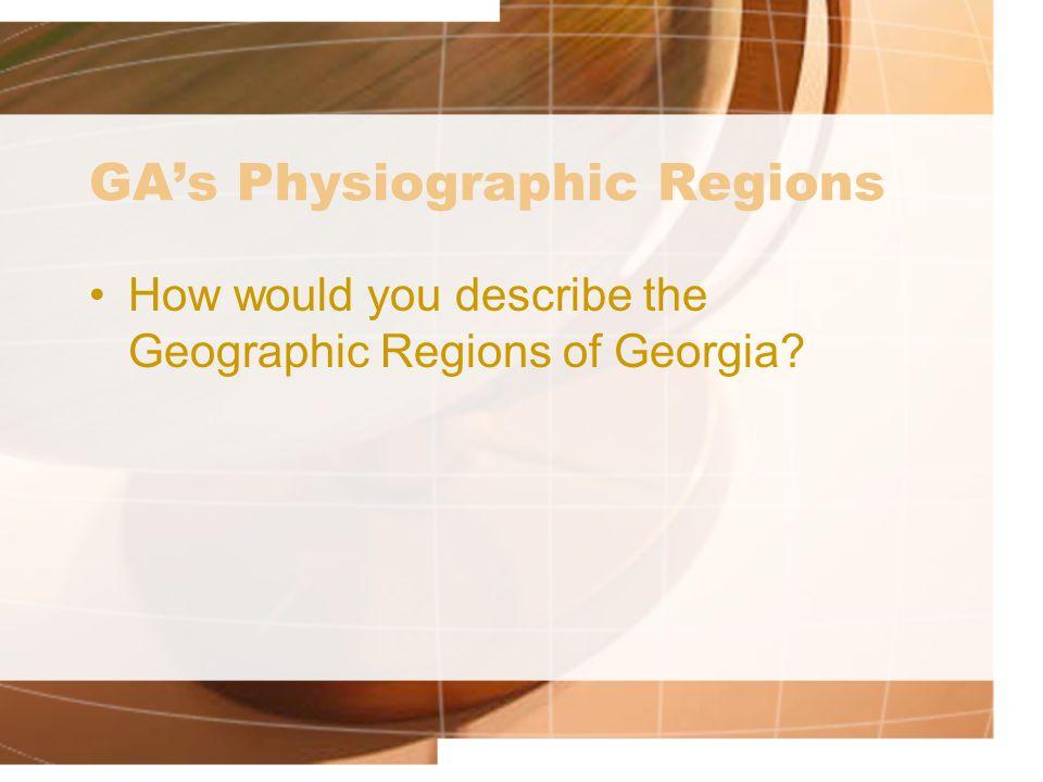 GA's Physiographic Regions