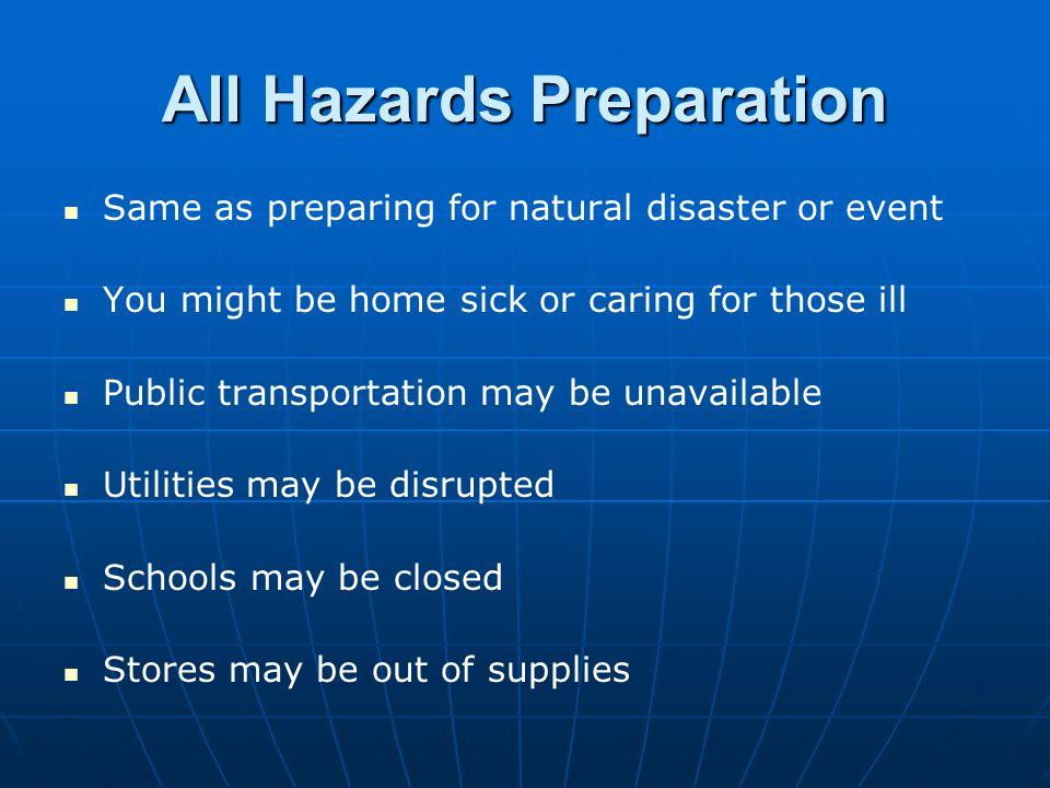 All Hazards Preparation