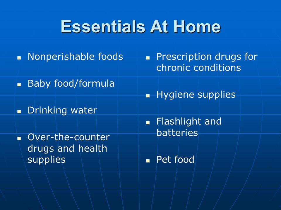 Essentials At Home Nonperishable foods Baby food/formula