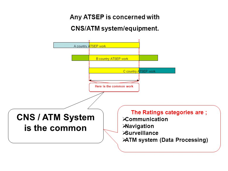 CNS / ATM System is the common