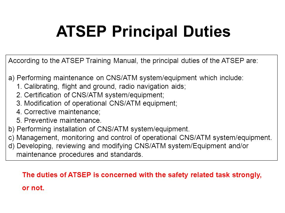ATSEP Principal Duties
