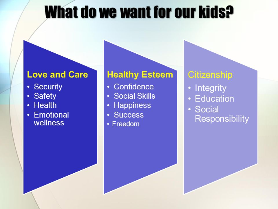 What do we want for our kids