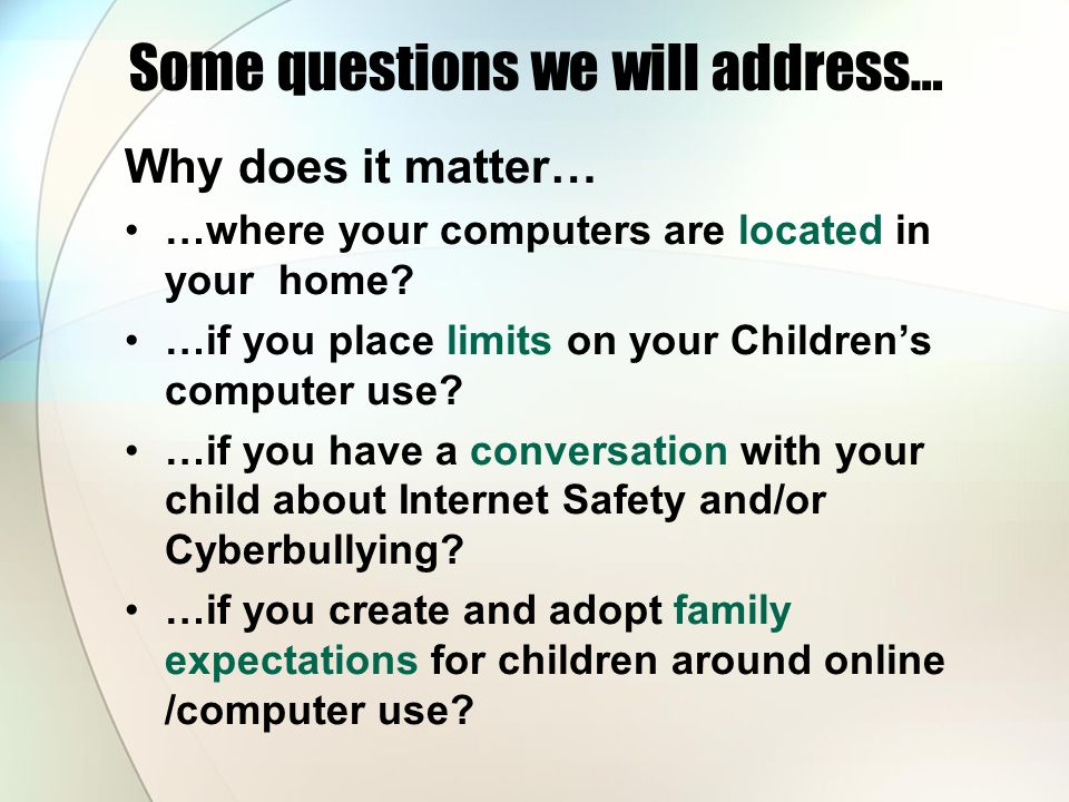 Some questions we will address…
