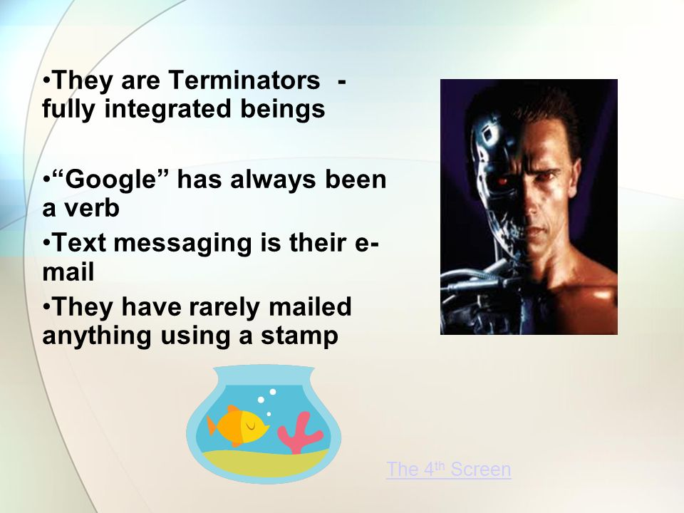 They are Terminators - fully integrated beings