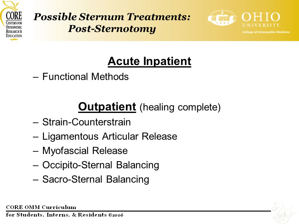 Possible Sternum Treatments: Post-Sternotomy