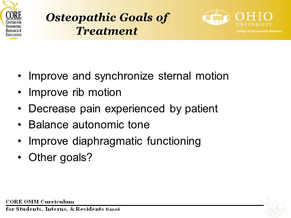 Osteopathic Goals of Treatment