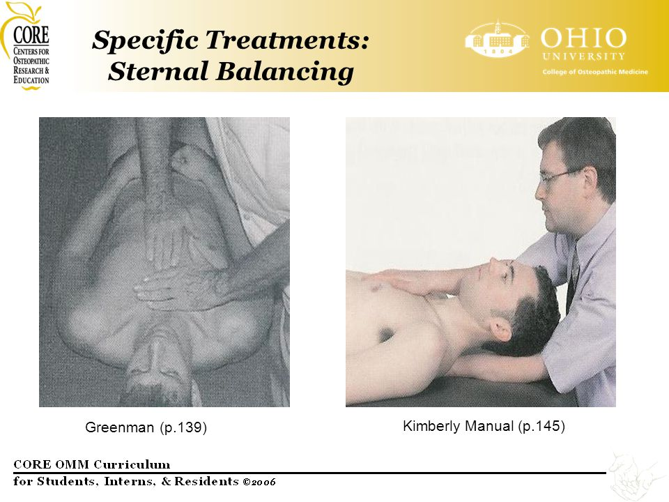 Specific Treatments: Sternal Balancing