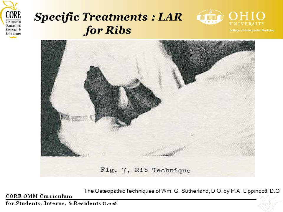 Specific Treatments : LAR for Ribs