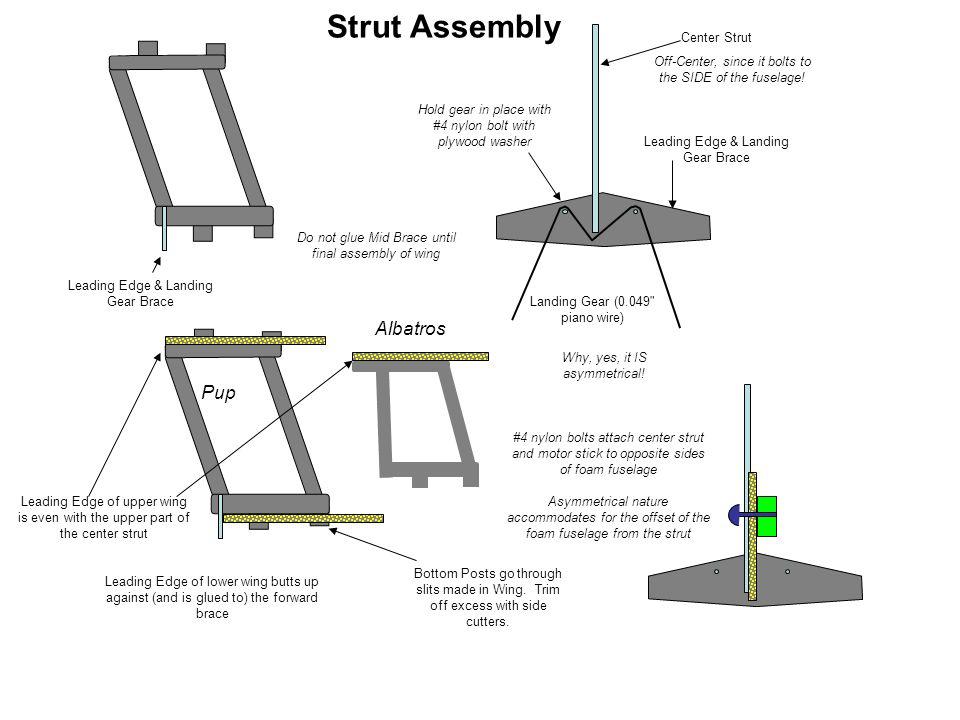 Strut Assembly Albatros Pup Center Strut