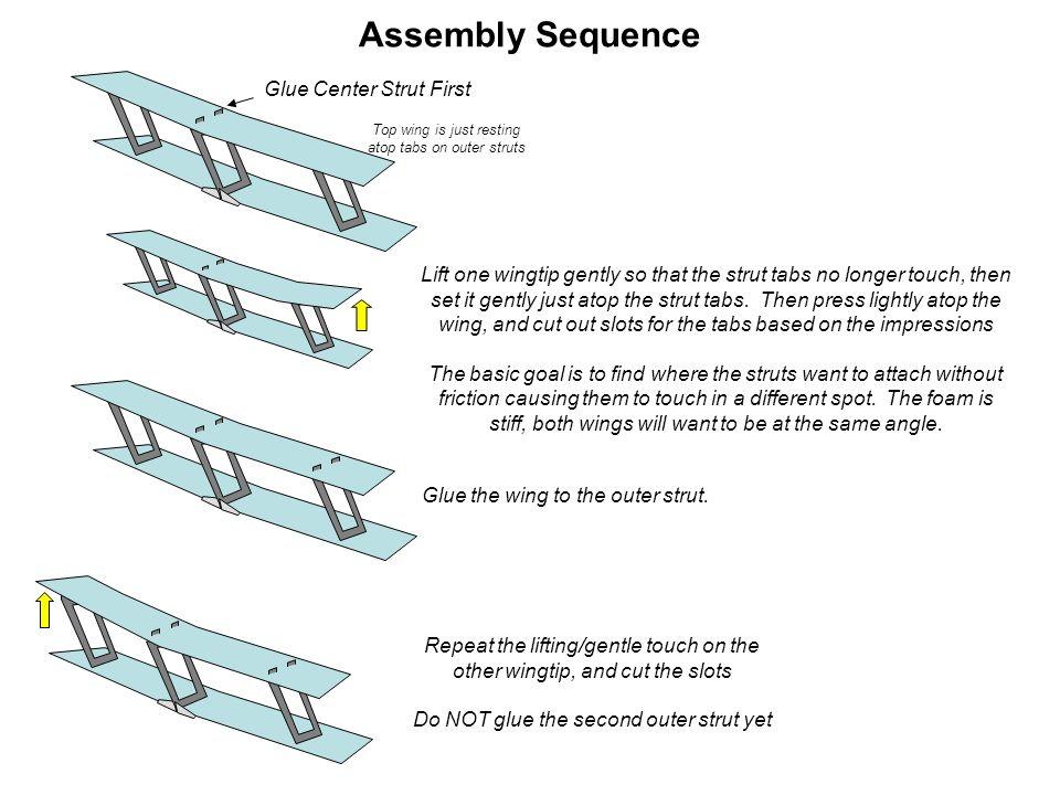 Assembly Sequence Glue Center Strut First