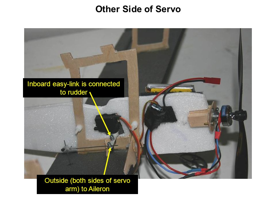 Other Side of Servo Inboard easy-link is connected to rudder